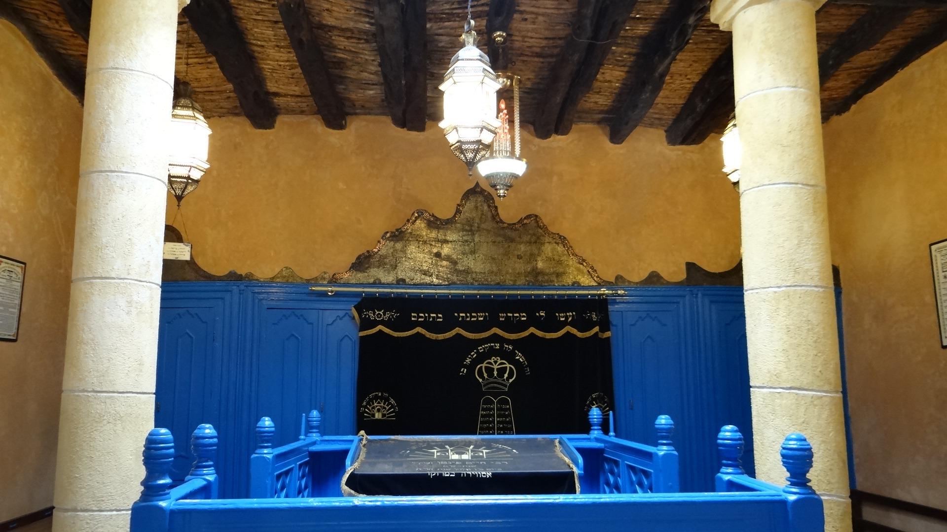 Interior da Sinagoga de Essaouira.